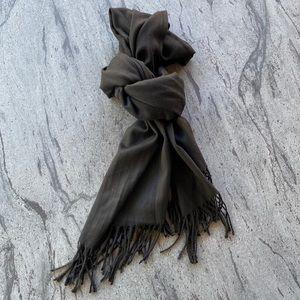 Black Oversized Fancy Soft Fringe Edge Scarf Wrap